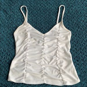 Urban outfitters cropped ruched tank top size xs